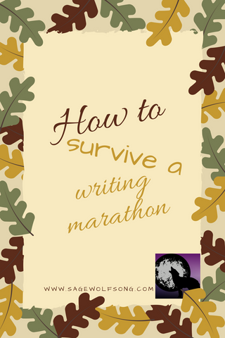 sage wolfsong blog graphic writing marathon