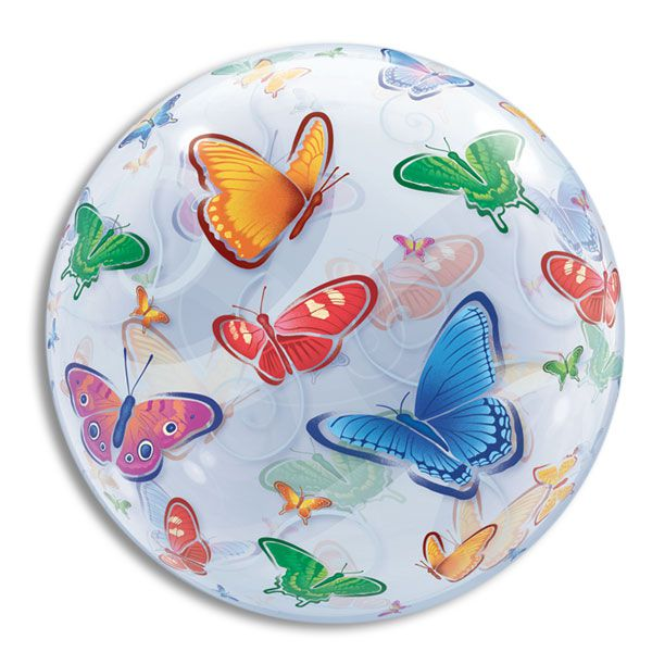 BUTTERFLIES BUBBLE BALLOON. 22""