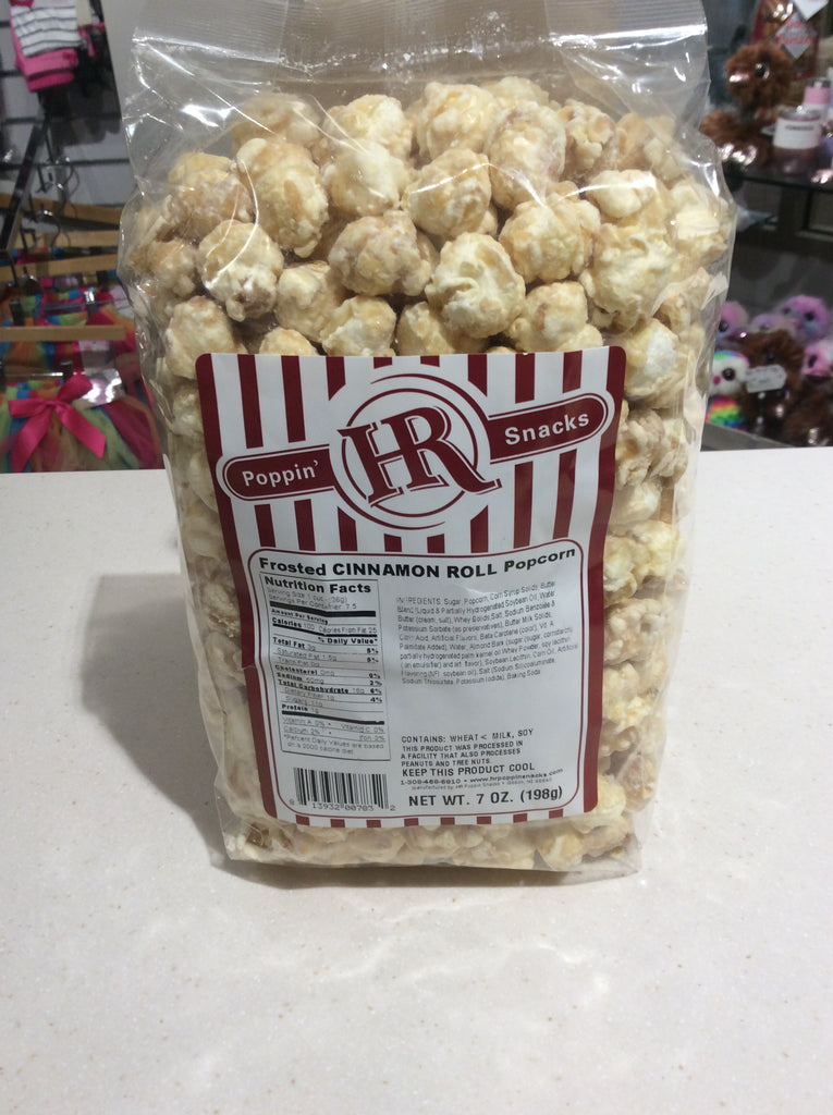 Frosted Cinnamon Roll Popcorn