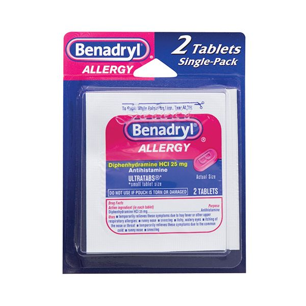 BENADRYL ALLERGY (SINGLE DOSE)