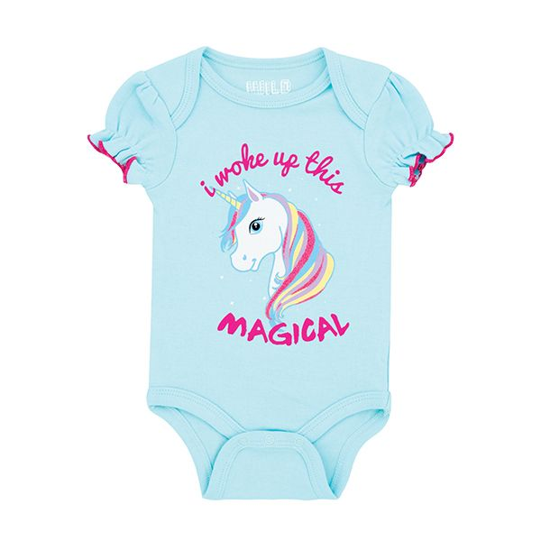 "Baby Girl Body Suit-""I Woke Up This Magical"" 0-3,6-9 mths"