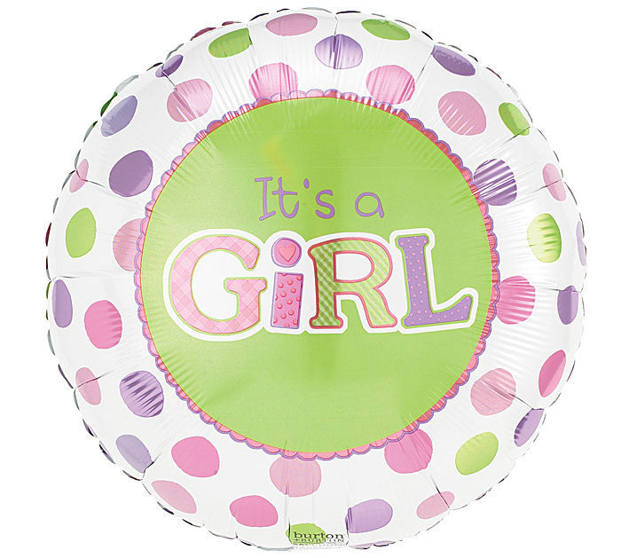 "9"" Dot Balloon (Boy & Girl Options Available!)"
