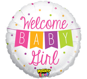 "21"" Welcome Baby Balloon (Boy & Girl Options Available!)"