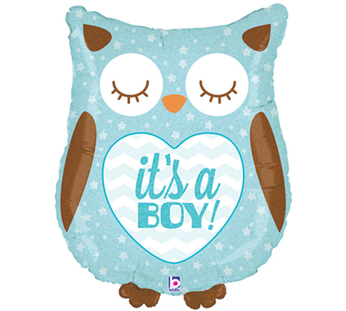 "9"" Owl Balloon (Boy & Girl Options Available!)"