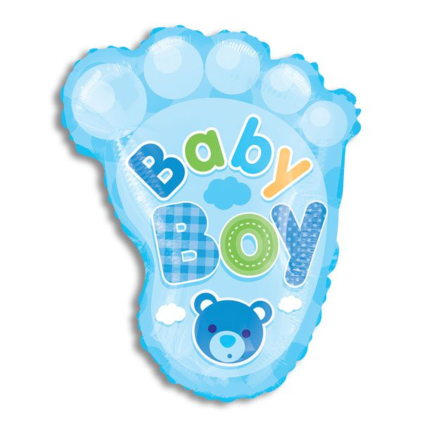 "BABY GIRL.  Foot. 20"" balloon"