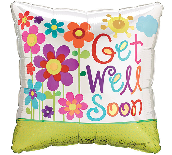 "17"" Get Well Soon Square Balloon"