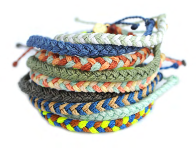 Assorted Colors - Braided Bracelets