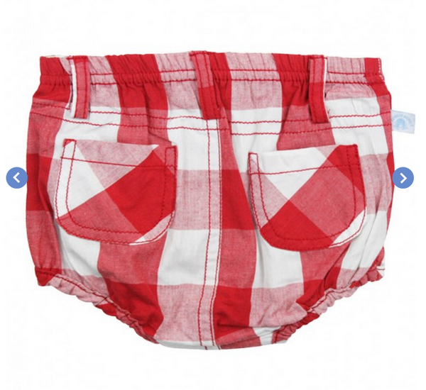 Red Gingham Bloomer RUGGED BUTTS ( BOYS)