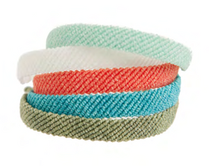 Assorted Colors - Flat Braided Bright Bracelets