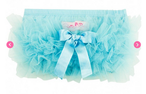 Sky Blue Frilly Knit RuffleButt