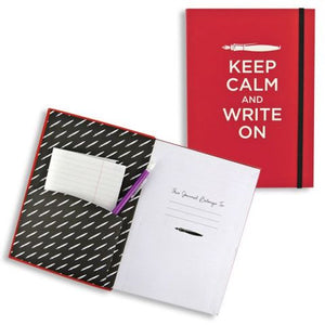 Keep Calm and Write On Flexi-Journal