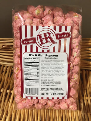 It's A Girl Popcorn - Pink Marshmallow 7oz.