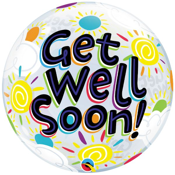 "18"" GET WELL SUNNY DAY BUBBLE BALLOON"