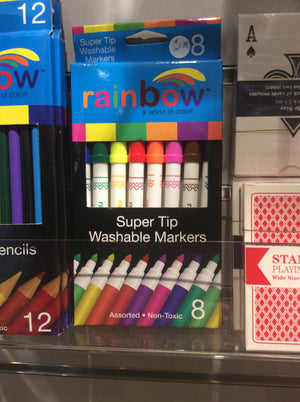 Rainbow super tip washable markers(8)