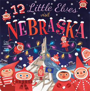 12 LITTLE ELVES VISIT NEBRASKA BOOK