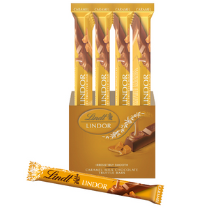 LINDT TRUFFLE BAR, CARAMEL MILK CHOCOLATE