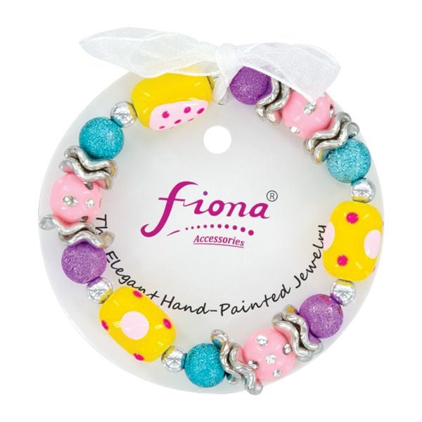 Easter Painted Bead Stretch Bracelets- Assorted