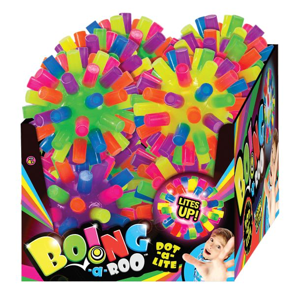 "4""BOING A ROO LIGHT UP BALL"