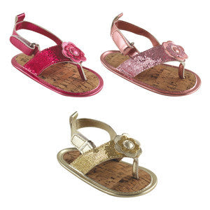 Girls Sparkly Sandal, Assorted Colors