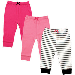 3-Pack Tapered Ankle Pants, Girl Assortment