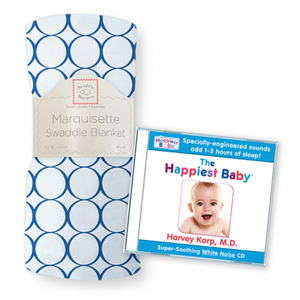 The Happiest Baby CD and Marquisette Swaddle Blanket Jewel Mod Circles (Multiple Colors Available!)