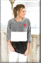 "Husker GameDay Couture ""Strike A Cord"" Velour Color Block Tunic"