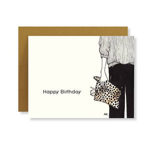 LEOPARD CLUTCH BIRTHDAY CARD - California Couture Boutique