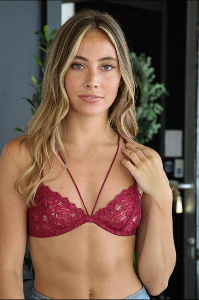 RYAN BRALETTE - SCARLET - California Couture Boutique