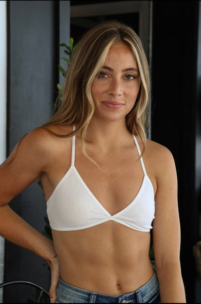 KINSLEY RIB KNIT BRALETTE - California Couture Boutique