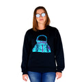 Astronaut Black Crew Neck Women's Front