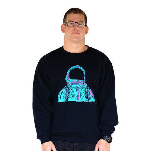 Astronaut Black Crew Neck Front Men's