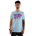 Floral Siren City T-Shirt in Ice Blue