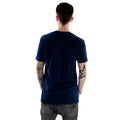 Floral Print on a Dark Navy Soft T-Shirt Mens Rear