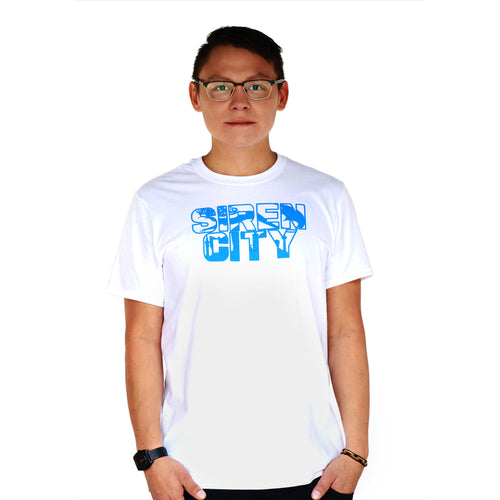 Siren City Men's Classic White T-Shirt Front