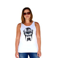 Beach Life White Tank Front Women's