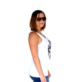 Beach Life White Tank Side Women's