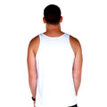 Beach Life White Tank Back Men's