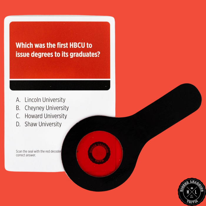 HIGHER LEARNING TRIVIA GAME: HBCU EDITION