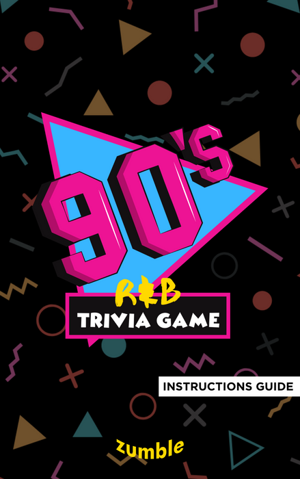 90's R&B Trivia INSTRUCTIONS GUIDE