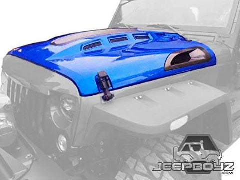 Jeep JK Avenger Style Hood - Real Carbon Fiber or Plastic Vents