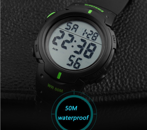 The Dive Master- Waterproof Military Watch with Hot Clock