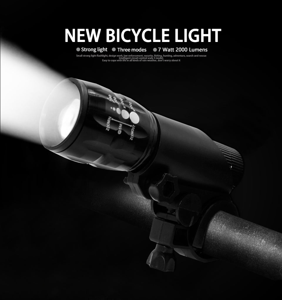 Portable Waterproof Bicycle Flashlight