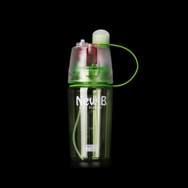 New Sports Water Bottle with Spray