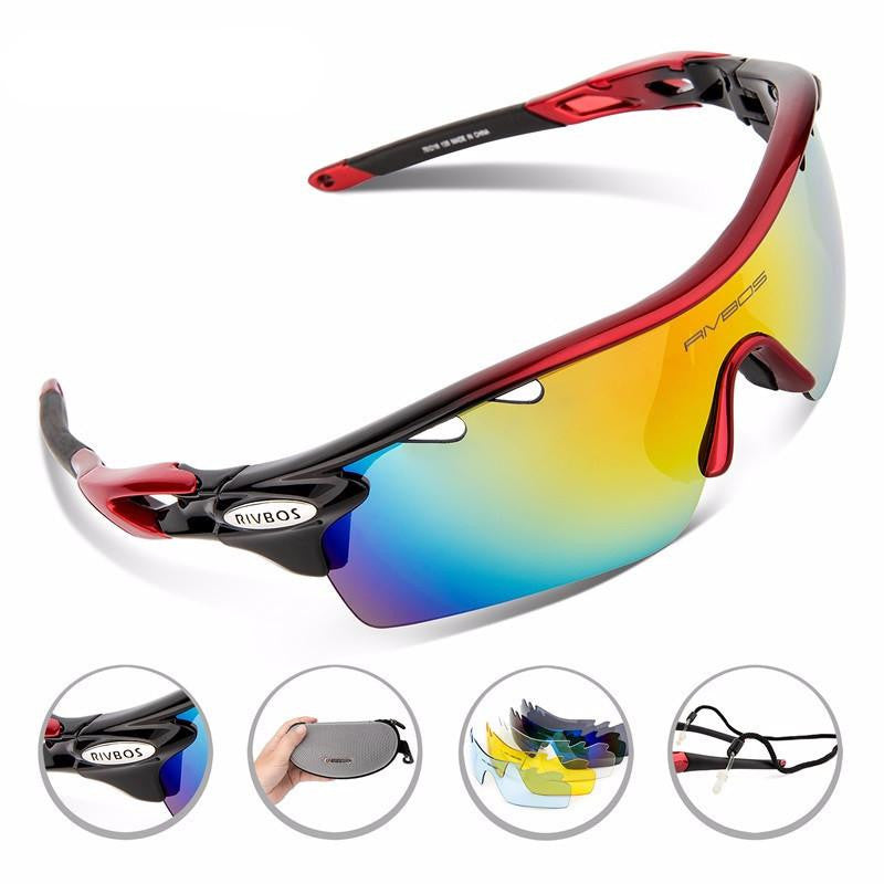 Rivbos Polarized Cycling Glasses With Accessories Kit