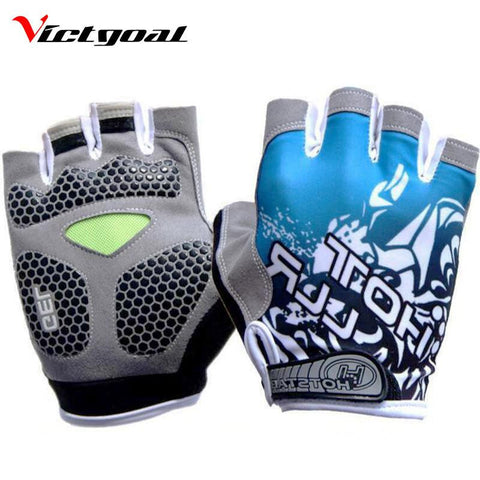 Gel Pad Cycling Half Finger Gloves