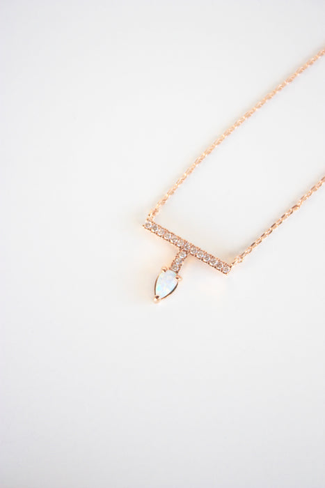 T Opal Stone Necklace
