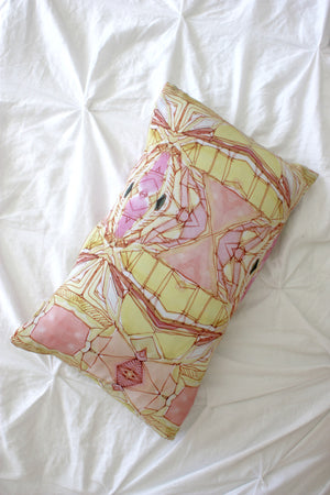 Golden Lotus pillow by Bunglo by Shay Spaniola