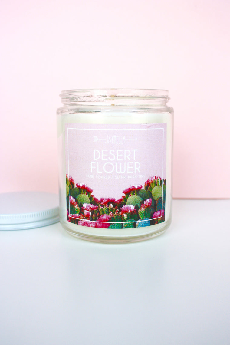Desert Flower Candle