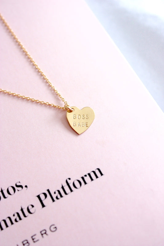 Boss Babe Mini Heart Charm Necklace