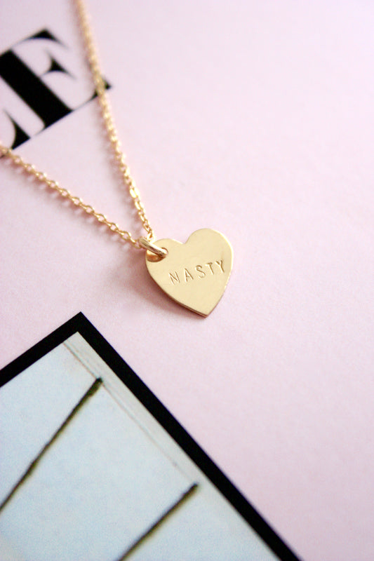 Nasty Mini Heart Charm Necklace
